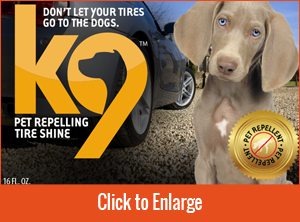 K9 Tire Shine Front Cover